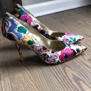 BCBG Floral Heels